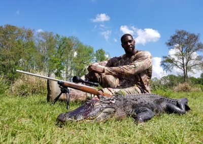 Man and alligator he hunted in florida