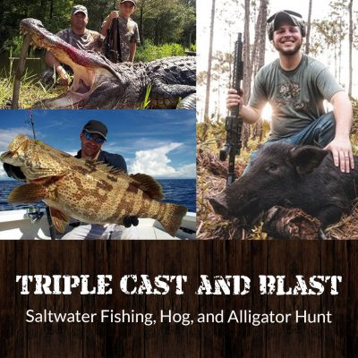 saltwater fishing, hog, and alligator hunt featured photo